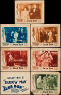 "Movie Posters:Crime, The Jade Box (Universal, 1930). Title Lobby Card & Lobby Cards (6) (11"" X 14"") Chapter 1 --""The Jade of Jeopardy!,"" Chapter ... (Total: 7 Items)"