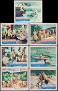 "Movie Posters:Sports, Ride the Wild Surf (Columbia, 1964). Title Lobby Card and Lobby Cards (6) (11"" X 14""). Sports.. ... (Total: 7 Items)"
