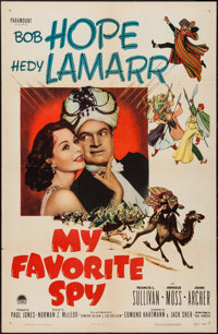 """My Favorite Spy & Others Lot (Paramount, 1951). One Sheets (3) (27"""" X 41"""") & Half Sheet (22"""" X 28..."""