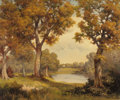 Paintings, ROBERT WILLIAM WOOD (American, 1889-1979). Texas Autumn, circa 1936. Oil on canvas. 25 x 30 inches (63.5 x 76.2 cm). Sig...