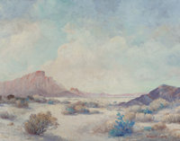 FREDERICK JARVIS (American, 1868-1944) West Texas Desert Oil on canvas 22-1/8 x 28-1/8 inches (56