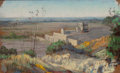Texas, JESSIE DAVIS (American, 1887-1969). View of Fort Davis, No.326, 1940. Pastel on sandpaper. 9 x 5-1/2 inches (22.9 x 14....