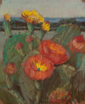 Texas, JESSIE DAVIS (American, 1887-1969). Cactus Flower, No. 346.Pastel on sandpaper. 11 x 9 inches (27.9 x 22.9 cm). Numbere...