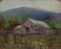 Fine Art - Work on Paper:Drawing, JESSIE DAVIS (American, 1887-1969). Barn and Shed, No. 367.Pastel on sandpaper. 9 x 11 inches (22.9 x 27.9 cm). Numbere...