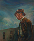 Texas:Early Texas Art - Modernists, TOM VAN BUREN (American, 20th Century). Portrait of JerryBywaters. Oil on canvas. 24 x 20 inches (61.0 x 50.8 cm).Sign...