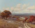 Texas:Early Texas Art - Regionalists, PORFIRIO SALINAS (American, 1910-1973). Fall Landscape withTexas Red Oaks. Oil on canvas. 24 x 30 inches (61.0 x 76.2 c...