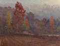 Texas:Early Texas Art - Regionalists, OLIN TRAVIS (American, 1888-1975). Rock Fence, Autumn Morning, 1972. Oil on masonite. 20 x 27 inches (50.8 x 68.6 cm). S...