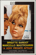 """Movie Posters:Drama, A Very Private Affair (MGM, 1962). One Sheet (27"""" X 41""""). Drama....."""
