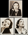 """Movie Posters:War, Kay Francis in British Agent & Other Lot (Warner Brothers,1934). Portrait Photos (3) (8"""" X 10""""). War.. ... (Total: 3 Items)"""