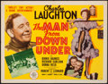 "Movie Posters:Drama, The Man from Down Under (MGM, 1943). Half Sheet (22"" X 28"") Style A. Drama.. ..."