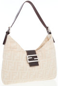 Luxury Accessories:Bags, Fendi Tan Monogram Canvas Hobo Bag. ...
