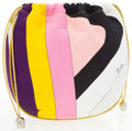 Luxury Accessories:Accessories, Emilio Pucci Multicolor Silk Abstract Drawstring Pouch Bag . ...