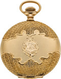 Timepieces:Pocket (post 1900), Hamilton Mint Gold 16 Size Grade 975, circa 1904. ...
