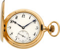 Timepieces:Pocket (post 1900), Agassiz High Grade 21 Jewel Heavy Gold Hunters Case, circa 1905....
