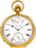 Timepieces:Pocket (pre 1900) , Karl Zimmerman, Liverpool, Fine Gold Keyless Fusee With WindIndicator, circa 1885. ...