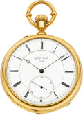 Timepieces:Pocket (pre 1900) , H. L. Matile, Locle, Superior High Grade Gold Pocket Watch, circa1875. ...
