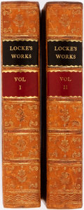 Books:Philosophy, John Locke. The Works of John Locke. London: Henry G. Bohn,1854. Two octavo volumes, uniformly bound in half calf w... (Total:2 Items)