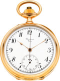 Timepieces:Pocket (pre 1900) , Swiss Very Fine Rose Gold Chronograph For Boucheron Paris, circa1895. ...