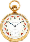 Timepieces:Pocket (pre 1900) , Seth Thomas Scarce 23 Jewel 14k Gold Fancy Dial Model 5, circa1894. ...