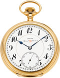 Timepieces:Pocket (post 1900), Gruen 14k Gold Special RR Standard, circa 1923. ...