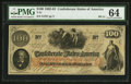 "Confederate Notes:1862 Issues, Manuscript Endorsement ""G(eorge) W. C(aldwell)"" T41 $100 1862 PF-11Cr. 319A.. ..."