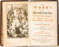 Books:Literature Pre-1900, Alexander Pope. The Works of Alexander Pope Esq. In Nine Volumes Complete. London: J. and P. Knapton, 1751. Nine oct... (Total: 9 Items)