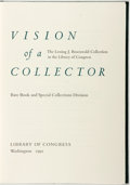 Books:Reference & Bibliography, [Bibliography]. Vision of a Collector. The Lesing J. RosenwaldCollection in the Library of Congress. Washington: Li...
