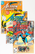 Modern Age (1980-Present):Superhero, Action Comics Half Short Box Group (DC, 1978-86) Condition: AverageNM.... (Total: 100 Comic Books)
