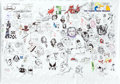 Original Comic Art:Illustrations, Hero Initiative Blank Page Project Mural Specialty PieceOriginal Art Group (2013)....