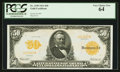 Large Size:Gold Certificates, Fr. 1199 $50 1913 Gold Certificate PCGS Very Choice New 64.. ...