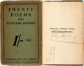Books:Literature 1900-up, Rudyard Kipling. SIGNED. Twenty Poems. London: Methuen,[1918]. First edition, first printing. Signed by the autho...
