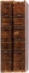 Books:Literature Pre-1900, Charles Dickens. Martin Chuzzlewit. Leipzig: BernhardTauchnitz, 1844. Copyright edition, published in the same year...(Total: 2 Items)