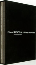 Books:Art & Architecture, Edward Ruscha. Editions 1959-1999: Catalogue Raisonne. Walker Art Center, [1999-2000]. Two quarto volumes, housed in... (Total: 2 Items)