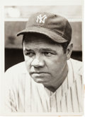 Baseball Collectibles:Photos, 1932 Babe Ruth News Photograph, PSA/DNA Type 1....