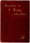 Books:Literature Pre-1900, Walt Whitman. November Boughs. Philadelphia: David McKay,1888. First edition. Publisher's beveled maroon cloth with...