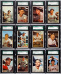 Baseball Cards:Lots, 1953 Bowman Color Baseball SGC Graded Collection (16). ...