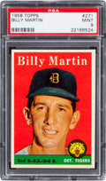 Baseball Cards:Singles (1950-1959), 1958 Topps Billy Martin #271 PSA Mint 9 - None Higher. ...