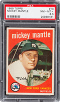 Baseball Cards:Singles (1950-1959), 1959 Topps Mickey Mantle #10 PSA NM-MT+ 8.5....