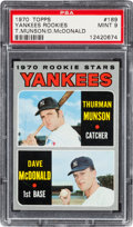 Baseball Cards:Singles (1970-Now), 1970 Topps Thurman Munson Rookie #189 PSA Mint 9 - Only Two Higher. ...