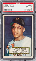 Baseball Cards:Singles (1950-1959), 1952 Topps Willie Mays #261 PSA EX-MT 6....