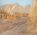 Texas, FORREST MOSES (American, b. 1934). Canyon Blanca, 1984. Oilon canvas. 48 x 50 inches (121.9 x 127 cm). Signed and title...