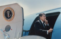 Photographs:Digital, DAVID WOO and DAVID LEESON. President Ronald Reagan Boarding AirForce One at the Dallas Naval Air Station and Pre... (Total:2 Items)