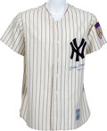"Baseball Collectibles:Uniforms, 1990's Mickey Mantle ""No. 7"" Signed Jersey...."