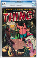 Golden Age (1938-1955):Horror, The Thing! #5 (Charlton, 1952) CGC VF- 7.5 Cream to off-whitepages....
