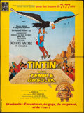 "Movie Posters:Animation, Tintin and the Temple of the Sun (Parafrance, 1969). French Grande(45"" X 61""). Animation.. ..."
