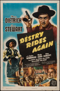 """Movie Posters:Western, Destry Rides Again (Universal, R-1947). One Sheet (27"""" X 41""""). Western.. ..."""