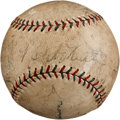 Autographs:Baseballs, 1927 New York Yankees Hall of Famers Signed Baseball....