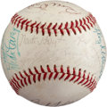 Baseball Collectibles:Balls, Late 1960's Hall of Famers Multi Signed Baseball....