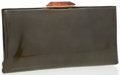 Luxury Accessories:Bags, Bottega Veneta Olive Green Patent Leather Clutch with TortoiseClosure. ...