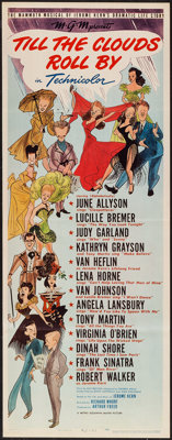 """Till the Clouds Roll By (MGM, 1946). Insert (14"""" X 36""""). Musical"""